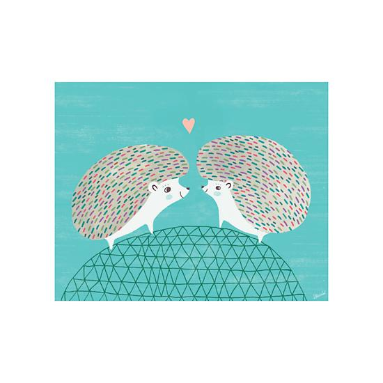 hedgehogs-in-love-poster-decal