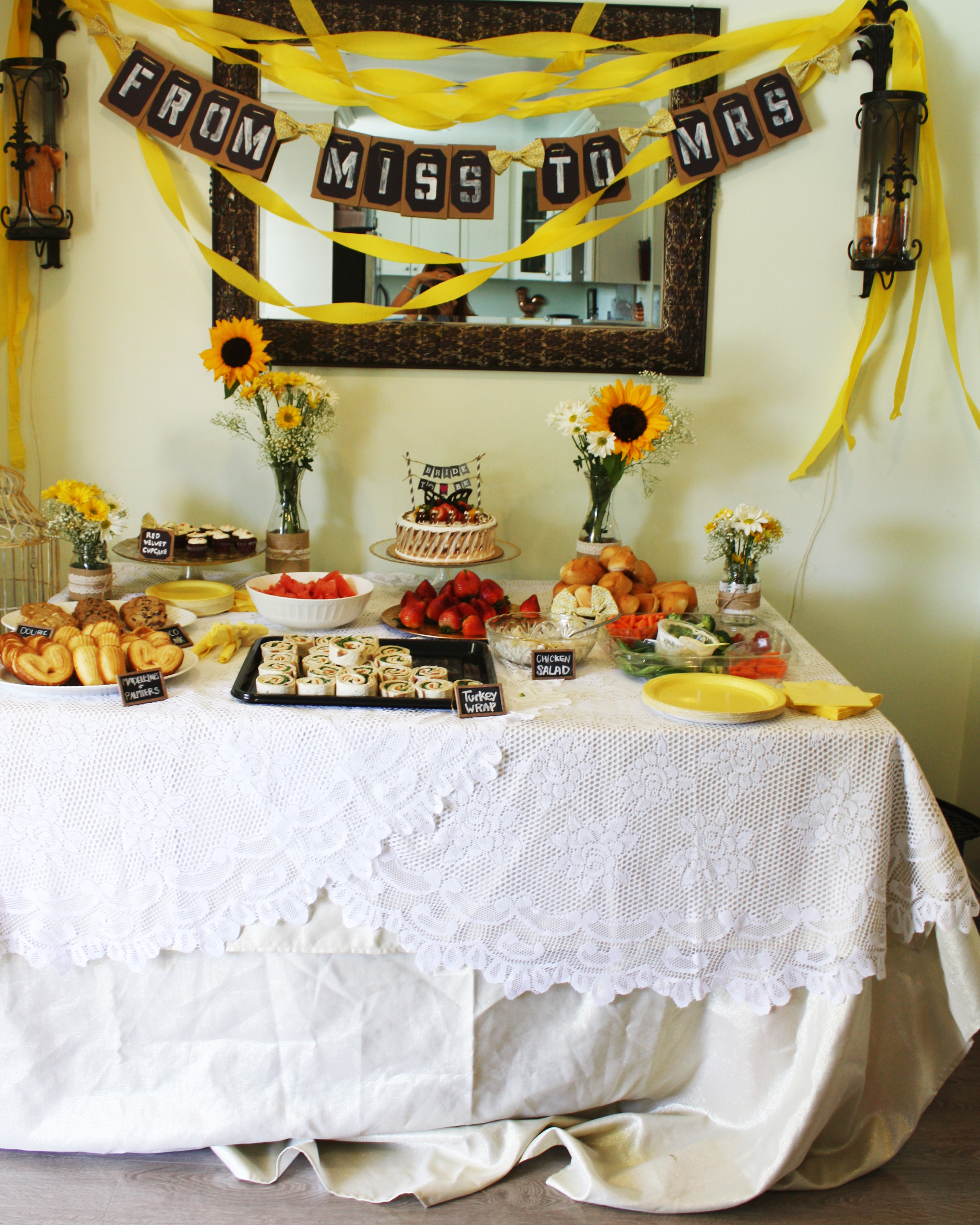Bridal Shower Yellow And Grey